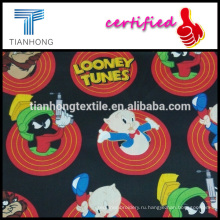 Looney tunes коллекции мультфильм характер печати хлопка атласа легкий вес шелковое ощущение ткани для спокойной