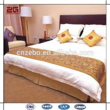 Lenço de cama de hotel, corredor de cama, jogo de roupa de cama
