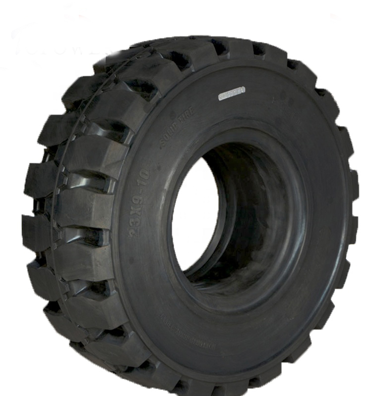 quality solid rubber tire 23x9-10