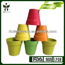 Eco friendly Biodegradable garden pot flower pot plant fibre