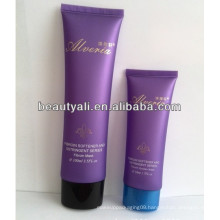 PE squeeze flat cosmetic cream tube