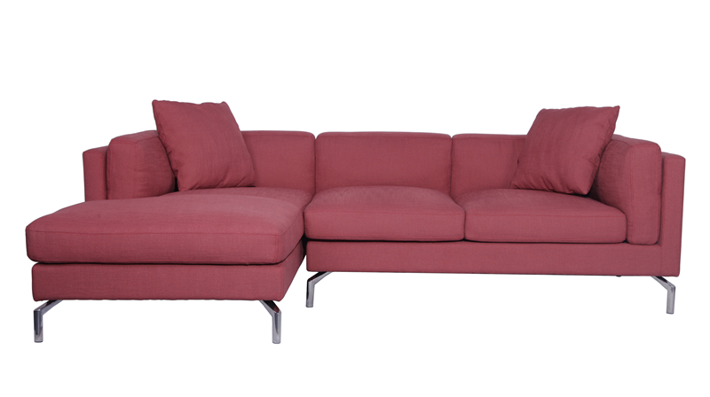 DWR-Como-Sofa-Sectional-in-Red-Fabric