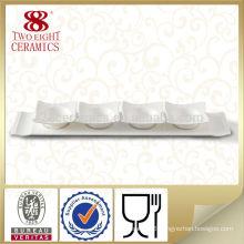 Japanese white long ceramic sushi soy sauce dish Guangzhou factory
