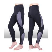 Hommes de vêtements de sport de Spandex en nylon de couleur de contraste, leggings pour les hommes, hommes pantalons de yoga