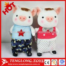 Regalo caliente de la tarjeta del día de San Valentín de la venta juguetes rellenos lindos de la felpa del cerdo
