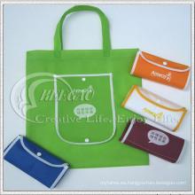 Bolso no tejido plegable, bolso de compras, bolso de reciclaje (KG-NB011)