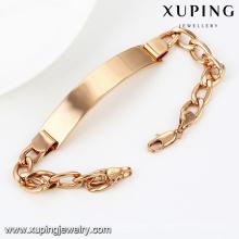 74491-Xuping nuevo diseño y pulsera de hombre de venta caliente con chapado en oro de 18 quilates