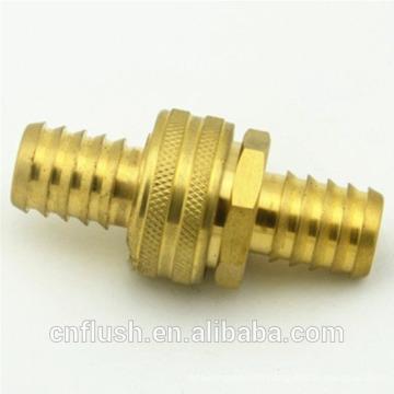Brass water hose insert fitting set
