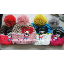kid handcrafted knitted hats with pompon