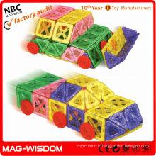 Formes de construction magnétiques enfants jouets éducatifs