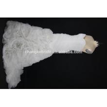 Nuevos vestidos de boda de las mujeres blancas de la tela del cordón de la llegada