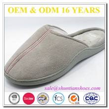 High quality micro suede upper adults soft sole massage slipper