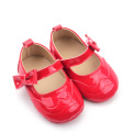 New Genuine Leather Leather Christmas breathable Baby Shoes Girls