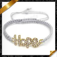 Hope Bracelet Bijoux Fashion Cord Handmade Bracelets Vente (FB069)