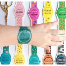 Dernières conception différentes couleurs bracelet montre patern personnalisé 3D autocollant de tatouage