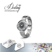 Destiny Jewellery Crystal From Swarovski Classic Leather Watch