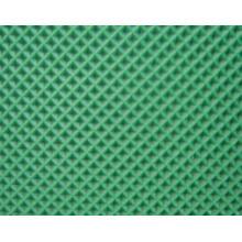Green PVC Conveyor Belt with Diamond Pattern