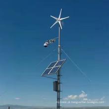 Luzes de fábrica de sistemas de geração de energia eólica e solar