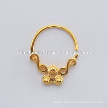 Handmade Plated Designer Ring Jewelry Exporters, Wholesale Sterling Silver Tribal Septump Nose Jewelry