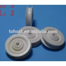 Roues durables de poulie de cannelure en céramique pour des machines de textile