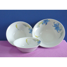 Chinese Supply Printing Porcelain Deep Salad Bowl Use for Home/Restaurant/Hotel