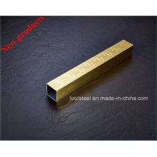 Цветная нержавеющая сталь с тиснением / L Декоративная узорная трубка