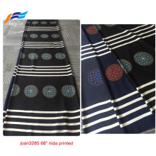 Korean Nida Digital Printing Formal Black Abaya Fabric