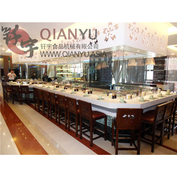 Sushi Food Conveyor Belt con muestra