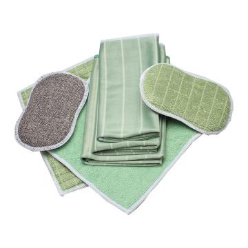 Juego de toallas de limpieza de microfibra de bambú