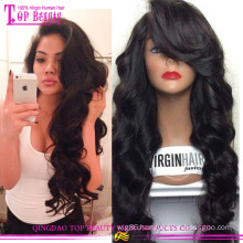 High Quality Cheap Price From Qingdao Wet And Wavy Remy Indian Remy Full Lace Wig With Baby Hair