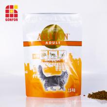 Sac de fermeture à glissière refermable pour l'emballage des aliments pour chats