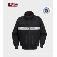multi pocket safety polar fleece work smock uniforms with reflective tape
