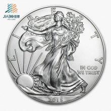 De boa qualidade Personalize a moeda comemorativa ou da lembrança do metal da benevolência da prata 3D