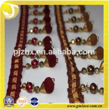 Poliris à perles en polyester pour les robes et la décoration de la maison