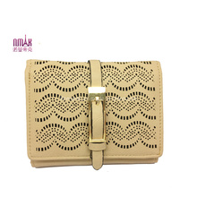 Perforated PU Leather Bifold Monry Clip Card Holder