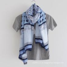 100% algodão impresso lenço de moda senhora (yky1146)