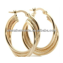 Pendientes de aro grande 18K oro plateado joyas de moda para las mujeres Brincos