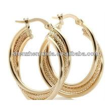 Big Hoop Earrings 18K Gold Plated Fashion Jewellery For Women Brincos