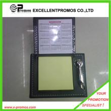 Promocionais auto-adesiva Memo Pad com estojo de couro (EP-H9130)