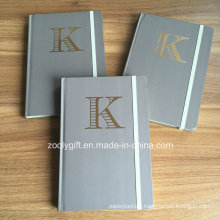 Customize Gold Stamping Logo A5 Hard Cover Notebooks