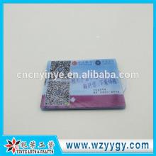 moule de 8,8 * 5.6 cas de carte de visite en plastique clair personnalisé avec logo imprimé