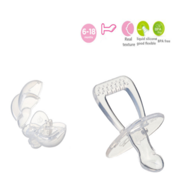 Safety Flat Head Nipple Baby Silicone Soother