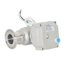 2 Way 1 Inch Sanitária Elétrica Rápida Instalação Tipo Válvula de esfera com operação manual