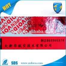 Auto-adesivo Die Cut PVC Etiqueta para impressão Vinil Segurança Garantia Etiqueta de Void