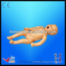 Manequins de CPR neonatal funcionais completos avançados, bonecos de treinamento de bebês médicos
