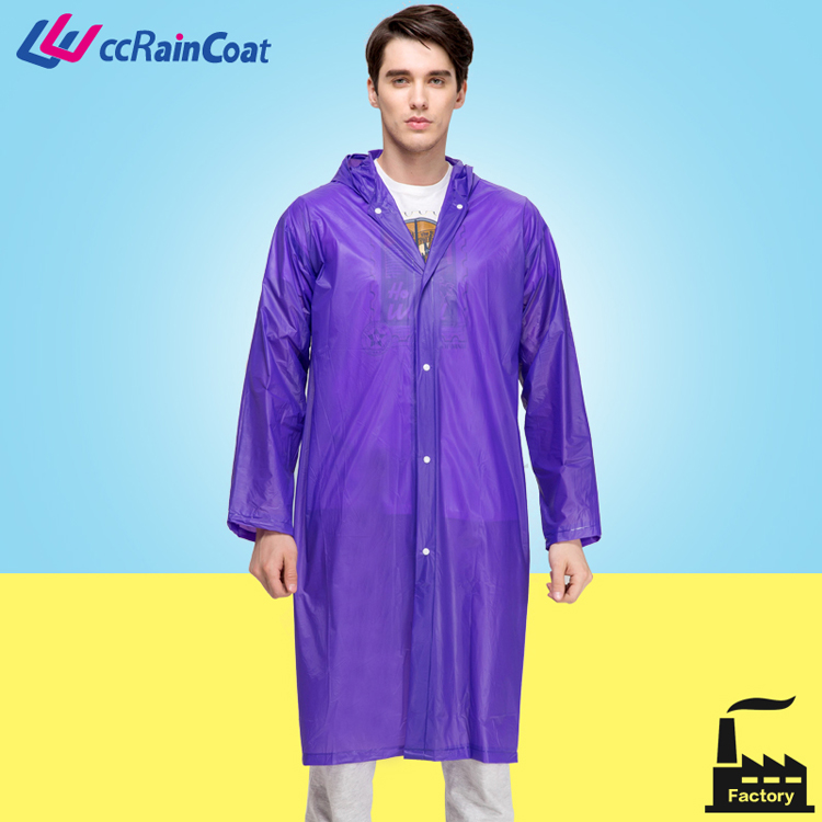 Clear plasctic sexy PVC raincoat women