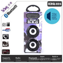FM radio 5W 1200mAh remote control wireless bluetooth subwoofer speaker with LED screen