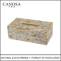 Handgjorda Golden Lip Shell Resin Tissue Box Cover