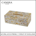 Handmade Golden Lip Shell Resin Tissue Box Cover
