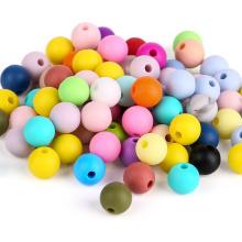 Round Supplies Mix 19mm Custom Soft Bulk Bpa Free Rainbow 12mm 15mm Baby Teether Food Grade Wholesale Teeth Chew Silicone Bead